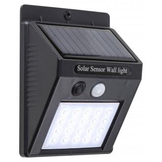 RABALUX 7933 | Ostrava Rabalux fali napelemes/szolár lámpa mozgásérzékelő, fényérzékelő szenzor - alkonykapcsoló elemes/akkus 1x LED 170lm 4000K IP65 fekete