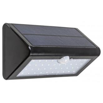 RABALUX 7934 | Ostrava Rabalux fali napelemes/szolár lámpa mozgásérzékelő, fényérzékelő szenzor - alkonykapcsoló elemes/akkus 1x LED 340lm 4000K IP65 fekete