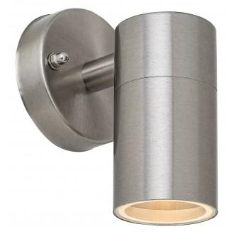 RABALUX 7938 | Zagreb Rabalux falikar lámpa 1x GU10 IP44 nemesacél, rozsdamentes acél