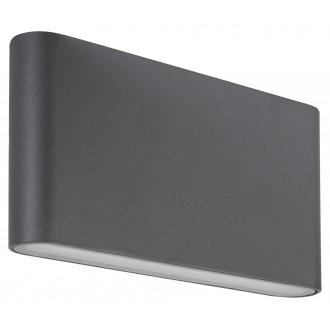 RABALUX 7952 | Nesna Rabalux fali lámpa 2x LED 528lm 3000K IP54 antracit szürke