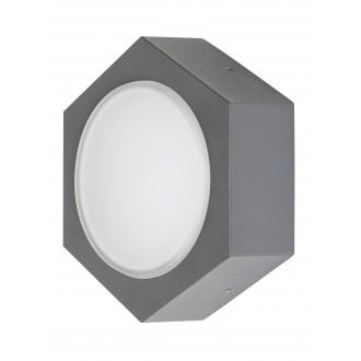 RABALUX 7964 | Avola Rabalux fali lámpa 1x LED 680lm 3000K IP54 antracit szürke, fehér