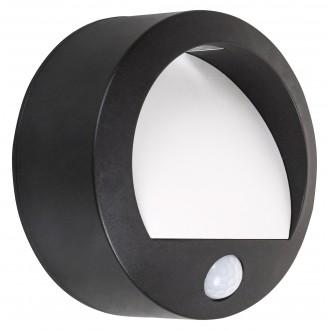 RABALUX 7969 | Amarillo Rabalux fali lámpa mozgásérzékelő elemes/akkus 1x LED 50lm 3000K IP44 fekete