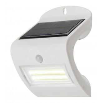 RABALUX 7970 | Opava Rabalux fali lámpa mozgásérzékelő napelemes/szolár 1x LED 115lm 4000K IP44 fehér