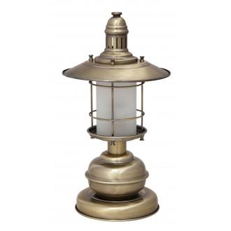 RABALUX 7992 | Sudan Rabalux asztali lámpa 42cm vezeték kapcsoló 1x E27 bronz, fehér