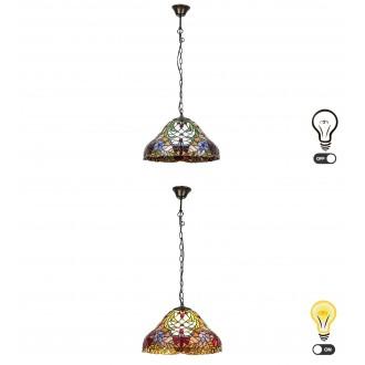 RABALUX 8086 | Mirella Rabalux függeszték lámpa 2x E27 bronz, többszínű