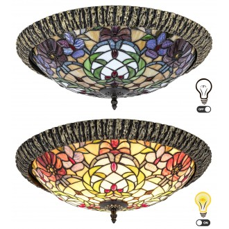 RABALUX 8087 | Mirella Rabalux mennyezeti lámpa 2x E27 bronz, többszínű