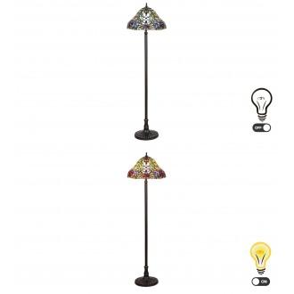 RABALUX 8088 | Mirella Rabalux álló lámpa 160cm vezeték kapcsoló 2x E27 bronz, többszínű
