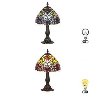 RABALUX 8089 | Mirella Rabalux asztali lámpa 35cm vezeték kapcsoló 1x E14 bronz, többszínű