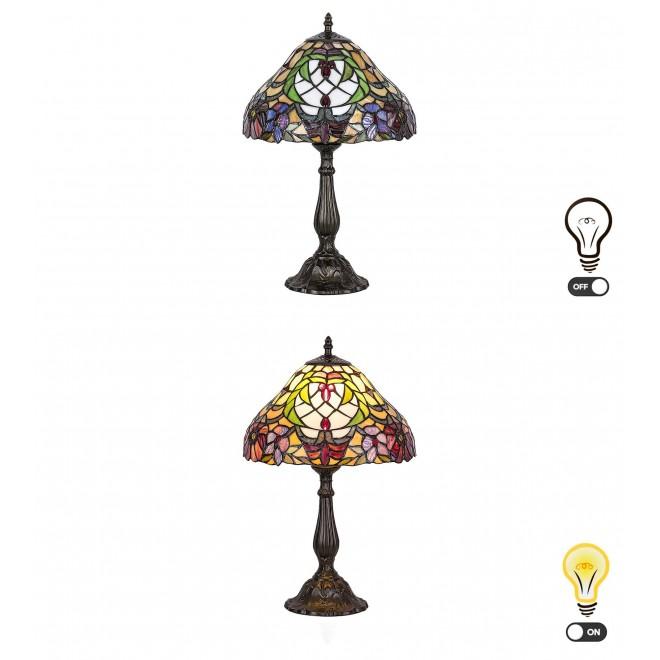 RABALUX 8090 | Mirella Rabalux asztali lámpa 46,5cm vezeték kapcsoló 1x E27 bronz, többszínű