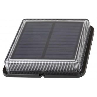 RABALUX 8104 | Bilbao_RA Rabalux dekor napelemes/szolár lámpa fényérzékelő szenzor - alkonykapcsoló elemes/akkus 1x LED 4000K IP67 fekete, átlátszó