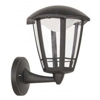 RABALUX 8126 | Sorrento Rabalux falikar lámpa 1x LED 500lm 3000K IP44 UV matt fekete, átlátszó