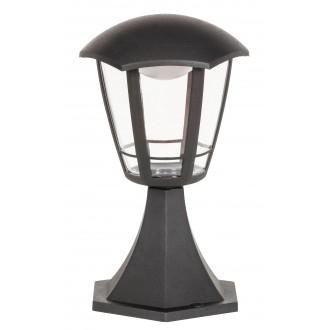 RABALUX 8127 | Sorrento Rabalux álló lámpa 30cm 1x LED 500lm 3000K IP44 UV matt fekete, átlátszó
