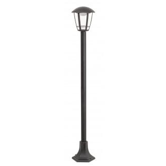RABALUX 8129 | Sorrento Rabalux álló lámpa 100cm 1x LED 500lm 3000K IP44 UV matt fekete, átlátszó