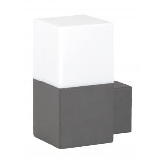 RABALUX 8138 | Dover Rabalux falikar lámpa 1x E27 IP54 UV antracit szürke, fehér