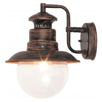 RABALUX 8163 | Odessa Rabalux falikar lámpa 1x E27 IP44 UV antikolt barna, átlátszó