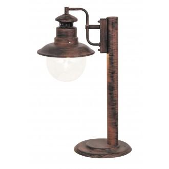 RABALUX 8165 | Odessa Rabalux álló lámpa 53,5cm 1x E27 IP44 UV antikolt barna, átlátszó