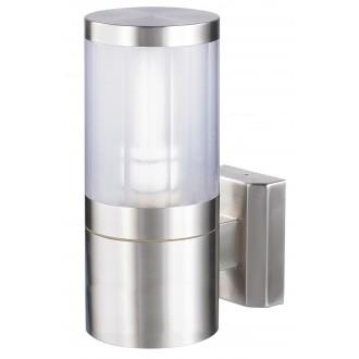 RABALUX 8166 | Atlanta Rabalux falikar lámpa 1x E27 IP44 UV nemesacél, rozsdamentes acél, átlátszó