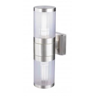 RABALUX 8167 | Atlanta Rabalux falikar lámpa 2x E27 IP44 UV nemesacél, rozsdamentes acél, átlátszó
