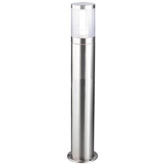 RABALUX 8168 | Atlanta Rabalux álló lámpa 80cm 1x E27 IP44 UV nemesacél, rozsdamentes acél, átlátszó