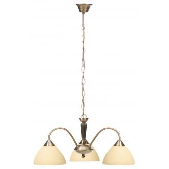 RABALUX 8173 | Regina Rabalux csillár lámpa 3x E14 bronz, krémszín