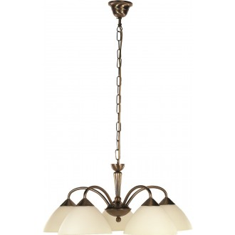 RABALUX 8175 | Regina Rabalux csillár lámpa 5x E14 bronz, krémszín