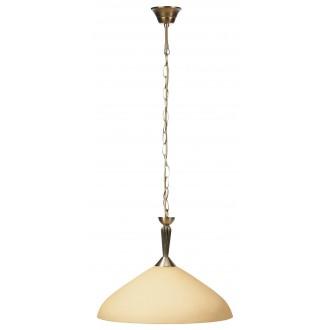 RABALUX 8176 | Regina Rabalux függeszték lámpa 1x E27 bronz, krémszín