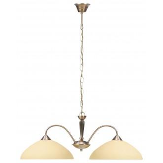 RABALUX 8177 | Regina Rabalux függeszték lámpa 2x E27 bronz, krémszín