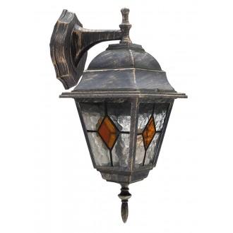 RABALUX 8181 | Monaco Rabalux falikar lámpa 1x E27 IP43 antikolt arany, piros, áttetsző