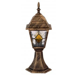 RABALUX 8183 | Monaco Rabalux álló lámpa 42cm 1x E27 IP43 antikolt arany, piros, áttetsző