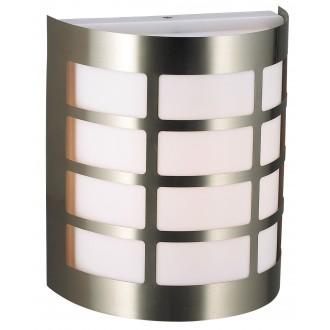 RABALUX 8199 | SevillaR Rabalux fali lámpa 1x E27 IP44 UV nemesacél, rozsdamentes acél, fehér
