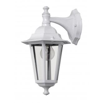 RABALUX 8201 | Velence1 Rabalux falikar lámpa 1x E27 IP43 fehér, átlátszó