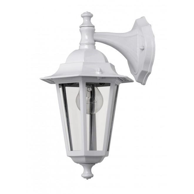 RABALUX 8201   Velence1 Rabalux falikar lámpa 1x E27 IP43 fehér, átlátszó