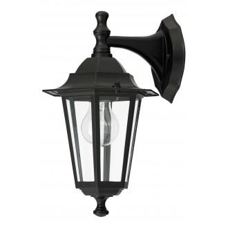 RABALUX 8202 | Velence1 Rabalux falikar lámpa 1x E27 IP43 fekete, átlátszó