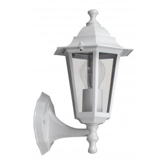 RABALUX 8203 | Velence1 Rabalux falikar lámpa 1x E27 IP43 fehér, átlátszó