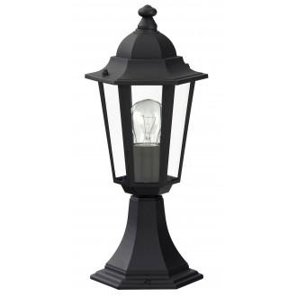 RABALUX 8206 | Velence1 Rabalux álló lámpa 40cm 1x E27 IP43 fekete, átlátszó