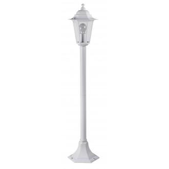 RABALUX 8209 | Velence1 Rabalux álló lámpa 105cm 1x E27 IP43 fehér, átlátszó