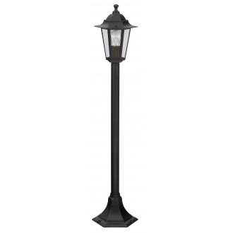 RABALUX 8210 | Velence1 Rabalux álló lámpa 105cm 1x E27 IP43 fekete, átlátszó