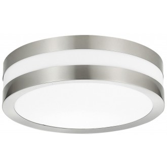 RABALUX 8220 | Stuttgart Rabalux mennyezeti lámpa 2x E27 IP44 UV nemesacél, rozsdamentes acél, fehér