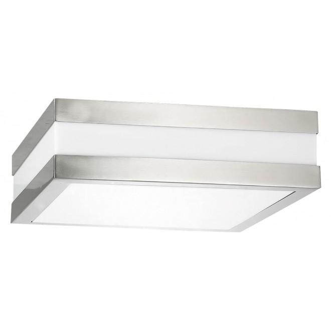 RABALUX 8227 | Stuttgart Rabalux mennyezeti lámpa 2x E27 IP44 UV nemesacél, rozsdamentes acél, fehér