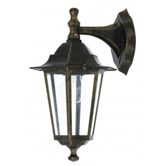 RABALUX 8232 | Velence Rabalux falikar lámpa 1x E27 IP43 antikolt arany, átlátszó