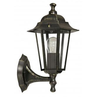 RABALUX 8234 | Velence Rabalux falikar lámpa 1x E27 IP43 antikolt arany, átlátszó