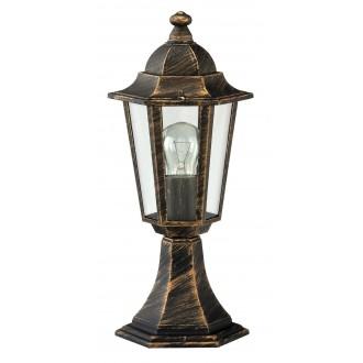 RABALUX 8236 | Velence Rabalux álló lámpa 40cm 1x E27 IP43 antikolt arany, átlátszó