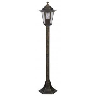 RABALUX 8240 | Velence Rabalux álló lámpa 105cm 1x E27 IP43 antikolt arany, átlátszó
