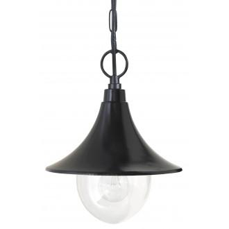 RABALUX 8246 | Konstanz Rabalux függeszték lámpa 1x E27 IP44 UV fekete, átlátszó