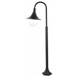 RABALUX 8247 | Konstanz Rabalux álló lámpa 120cm 1x E27 IP44 UV fekete, átlátszó