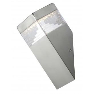 RABALUX 8249 | Genf Rabalux fali lámpa 1x LED 450lm 4000K IP54 nemesacél, rozsdamentes acél
