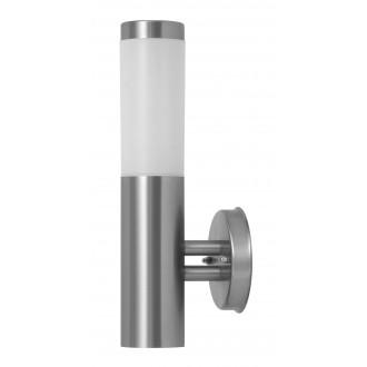 RABALUX 8262 | Inox Rabalux falikar lámpa 1x E27 IP44 UV nemesacél, rozsdamentes acél, fehér