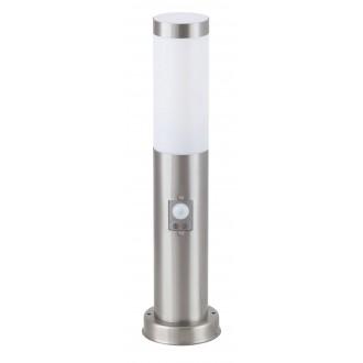 RABALUX 8267 | Inox Rabalux álló lámpa 45cm mozgásérzékelő 1x E27 IP44 UV nemesacél, rozsdamentes acél, fehér