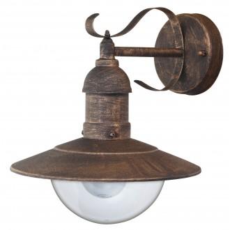 RABALUX 8271 | OsloR Rabalux falikar lámpa 1x E27 IP44 UV antikolt arany, átlátszó