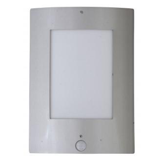 RABALUX 8288 | DenverR Rabalux fali lámpa mozgásérzékelő 1x E27 IP44 UV nemesacél, rozsdamentes acél, fehér